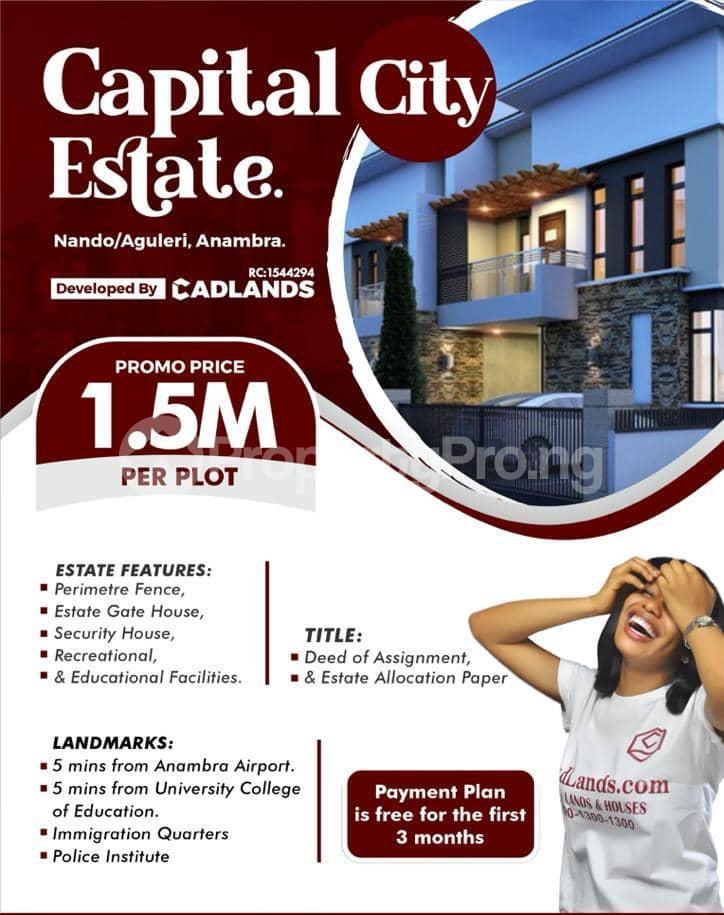 Residential Land for sale Capital City Estate In Nando/aguleri Awka Anambra State Anambra East Anambra - 0