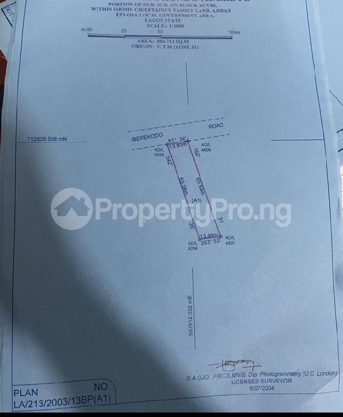 Land for sale Iberekodo Ibeju-Lekki Lagos - 1