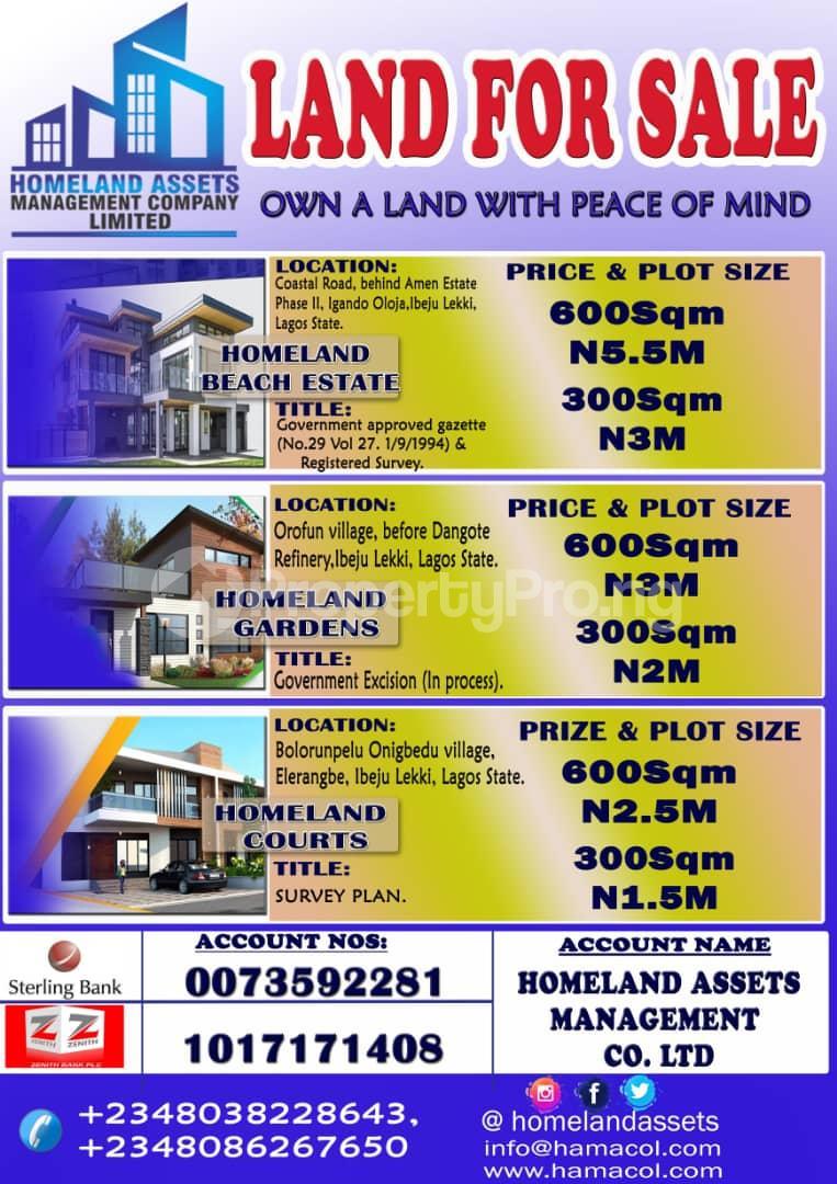 Residential Land for sale Costal Road Eleko Eleko Ibeju-Lekki Lagos - 2