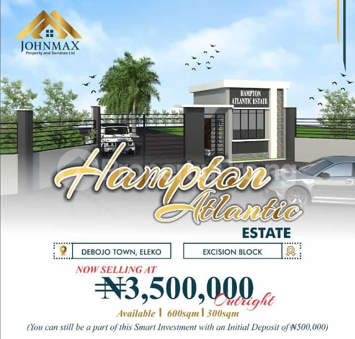 Residential Land for sale Costal Road Debojo, Eleko Lagos. Eleko Ibeju-Lekki Lagos - 0