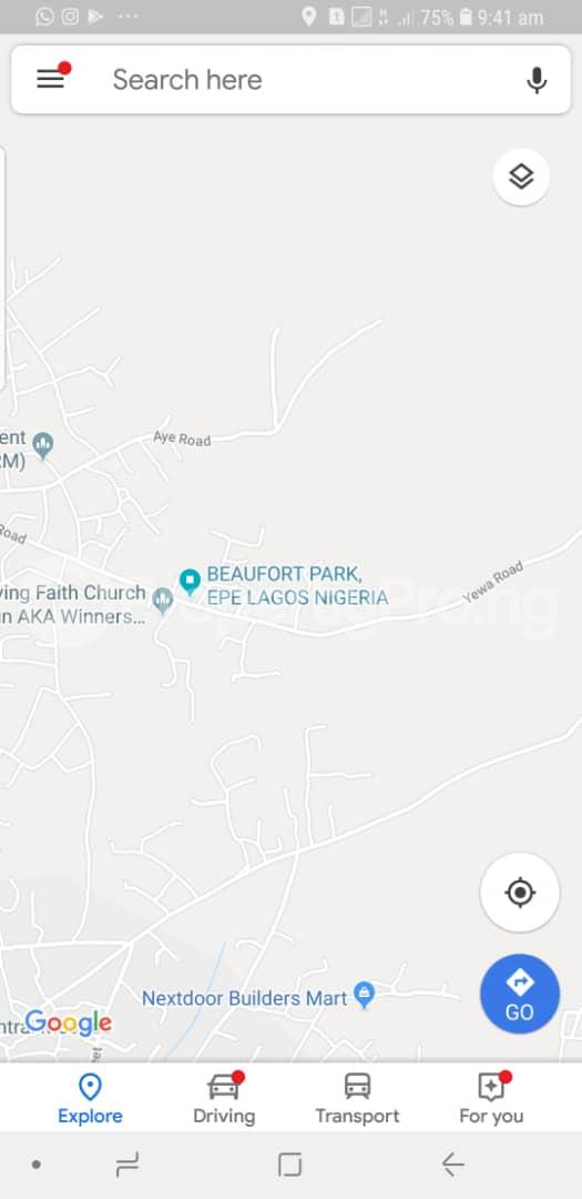 Land for rent Yewa Epe Road Epe Lagos - 8