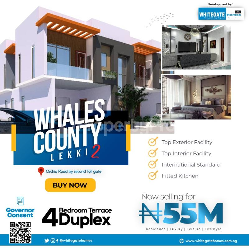 4 bedroom Terraced Duplex for sale Whales County Estate, Orchid Road, Close To Chevron Toll Gate Ikota Lekki Lagos - 0