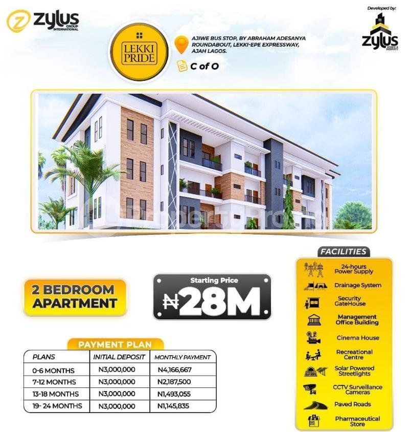 3 bedroom Flat / Apartment for sale Lekki Pride Estate, Lekki Scheme Two Abraham adesanya estate Ajah Lagos - 1