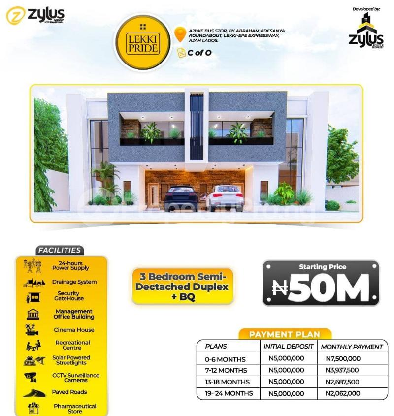 3 bedroom Flat / Apartment for sale Lekki Pride Estate, Lekki Scheme Two Abraham adesanya estate Ajah Lagos - 3