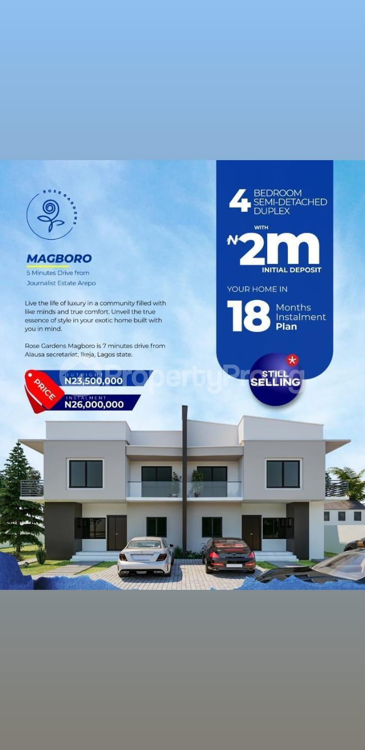 Semi Detached Bungalow House for sale Magboro Obafemi Owode Ogun - 1