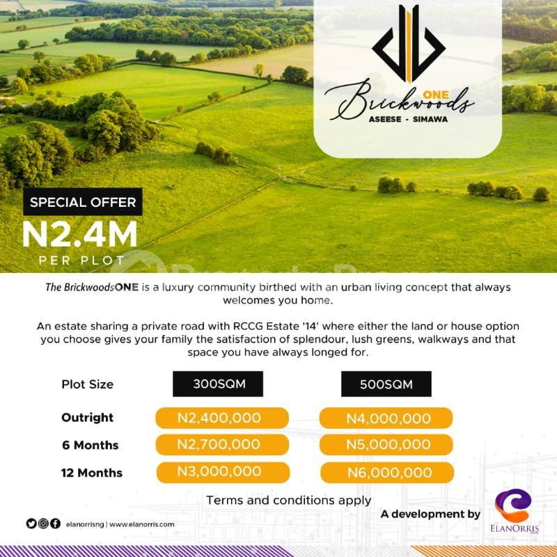 Residential Land Land for sale Asese-Simawa Obafemi Owode Ogun - 0