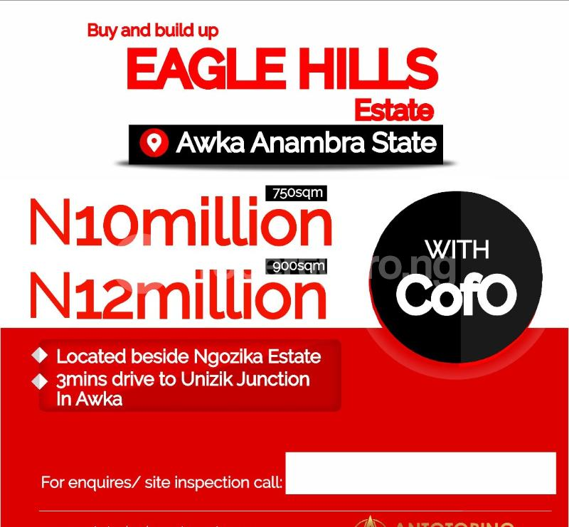Mixed   Use Land Land for sale 3 minutes from UNIZIK Junction Awka  Awka South Anambra - 0