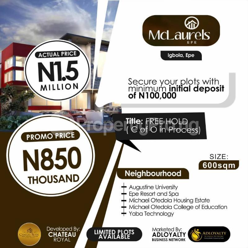 Residential Land Land for sale Igbonla Epe-Lagos Epe Road Epe Lagos - 0