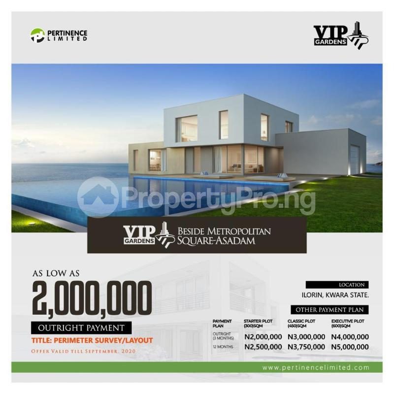 Serviced Residential Land Land for sale Beside the Metropolitan Square,Asadam Ilorin Kwara - 0