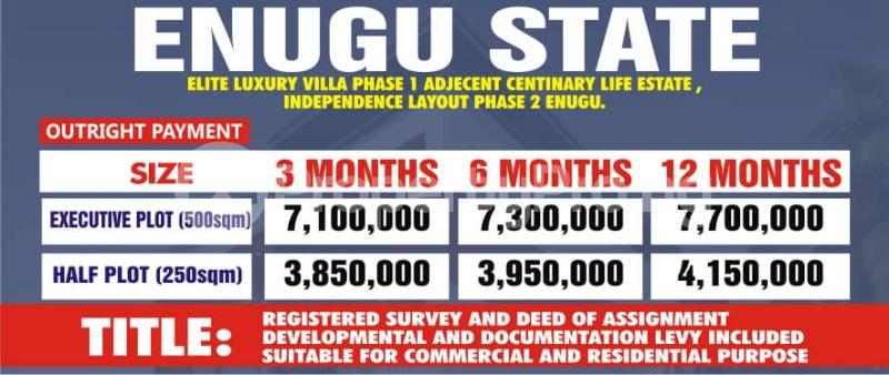 Mixed   Use Land Land for sale Adjacent to Centrnary City Lifestyle Independence Layout Phase 2  Nkanu Enugu - 1