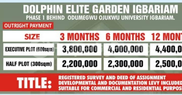 Mixed   Use Land for sale Behind Odmegwu Ojukwu University Igbariam Awka North Anambra - 2