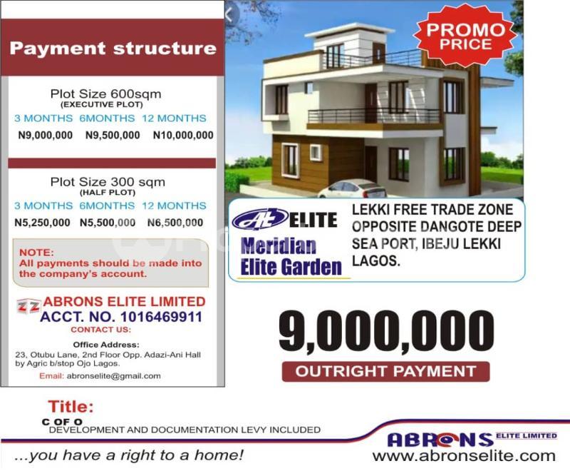 Mixed   Use Land for sale Meridian Elite Garden Estate, Located Opposite Dangote Deep Sea Port Iberekodo Ibeju-Lekki Lagos - 0