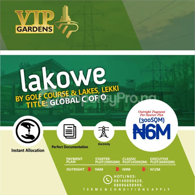 Serviced Residential Land Land for sale Beside Lakowe Golf Course Lakowe Ajah Lagos Lakowe Ajah Lagos - 0