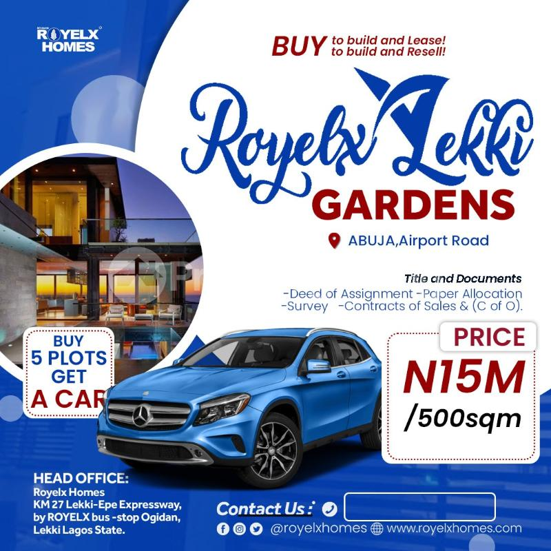 Residential Land Land for sale Royelx lekki gardens Abuja along airport road Central Area Abuja - 0