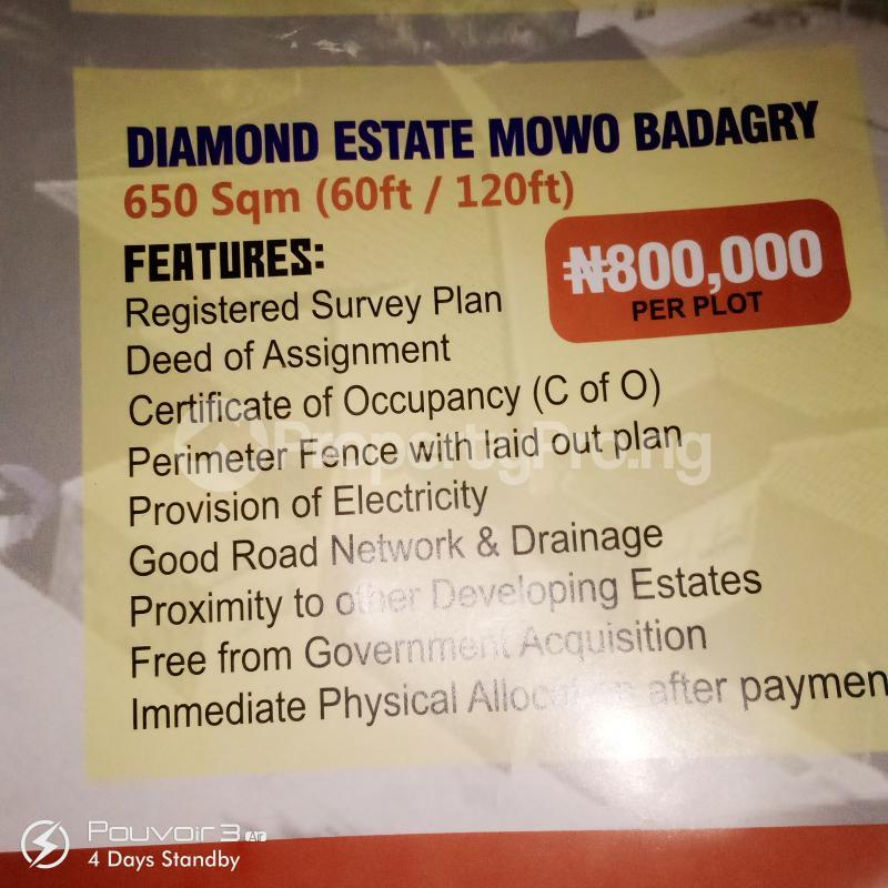 Mixed   Use Land Land for sale Diamond Estate Mowo Badagry  Age Mowo Badagry Lagos - 0