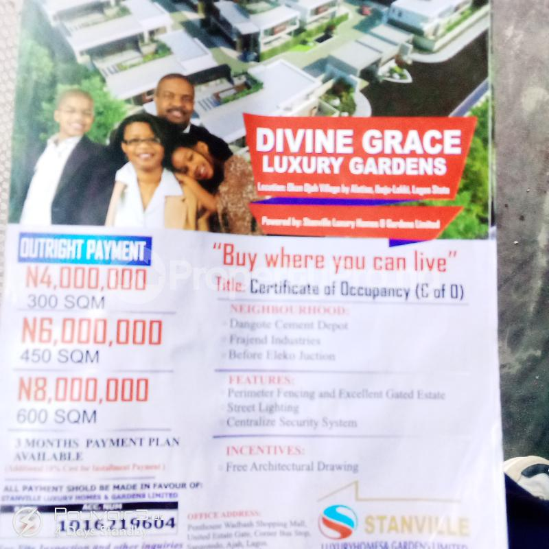 Mixed   Use Land Land for sale Okun Ise Village  Alatise Ibeju-Lekki Lagos - 0