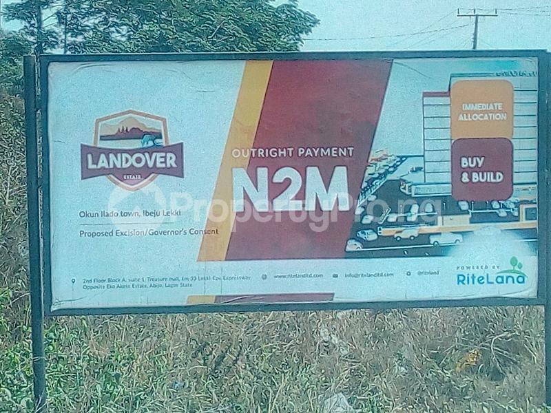 Residential Land for sale Okun Ilado Iberekodo Ibeju-Lekki Lagos - 0