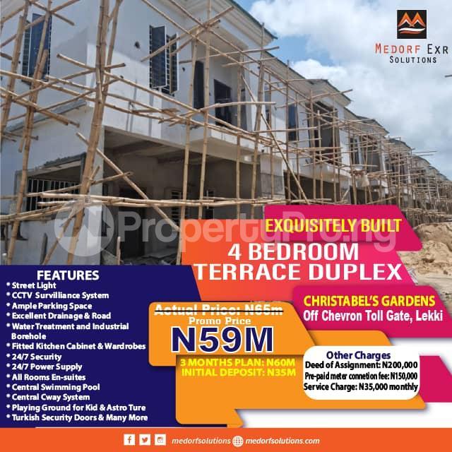 4 bedroom Terraced Duplex for sale Off Chevron Toll Gate, Lekki Lekki Lagos - 0