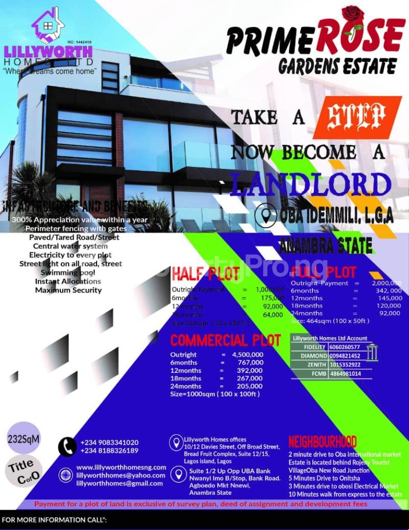 Mixed   Use Land for sale Ugbo Umuogali Village Before Rojenny Tourist Village Idemili south Anambra - 0