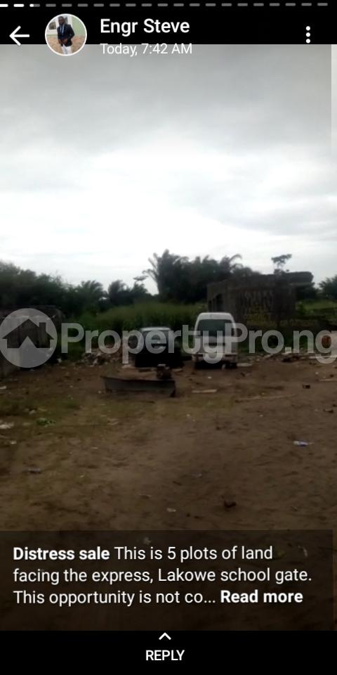 Commercial Land Land for sale Directly along Lekki-Epe expressway (facing the express) Lakowe Ajah Lagos - 1