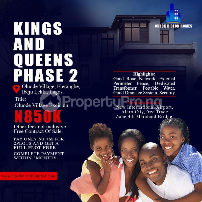 Residential Land Land for sale Eleranigbe Ibeju-Lekki Lagos - 0