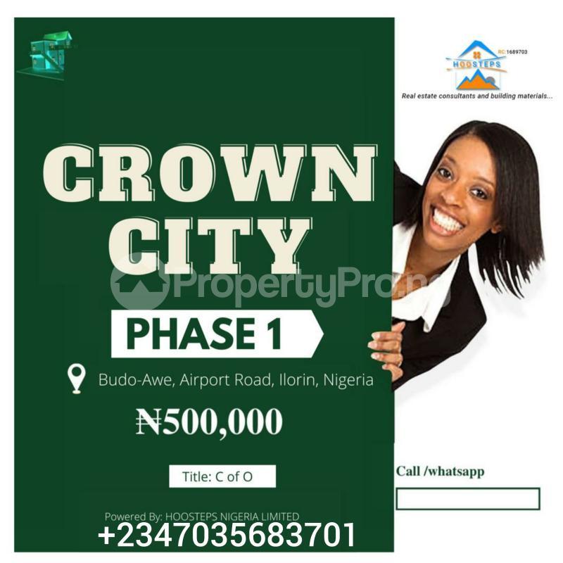 Residential Land Land for sale Airport Road Crown City Budo awe Ilorin Kwara - 1