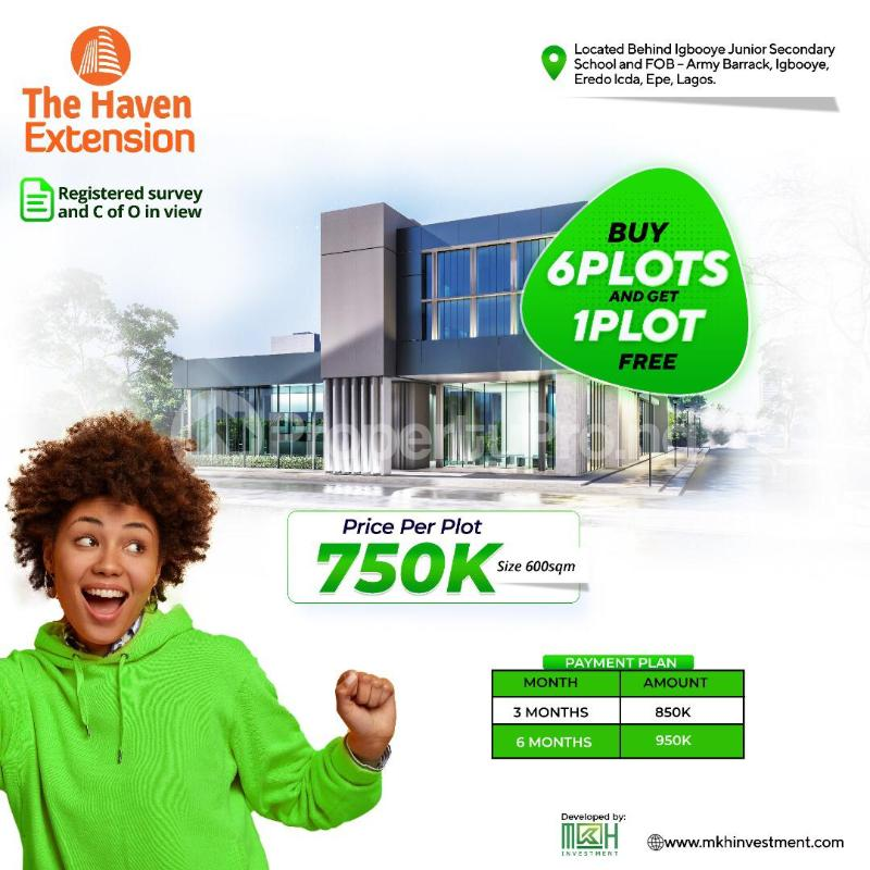 Residential Land for sale Behind Igbooye Junior Secondary School & Fob Army Barracks Epe Lagos - 0