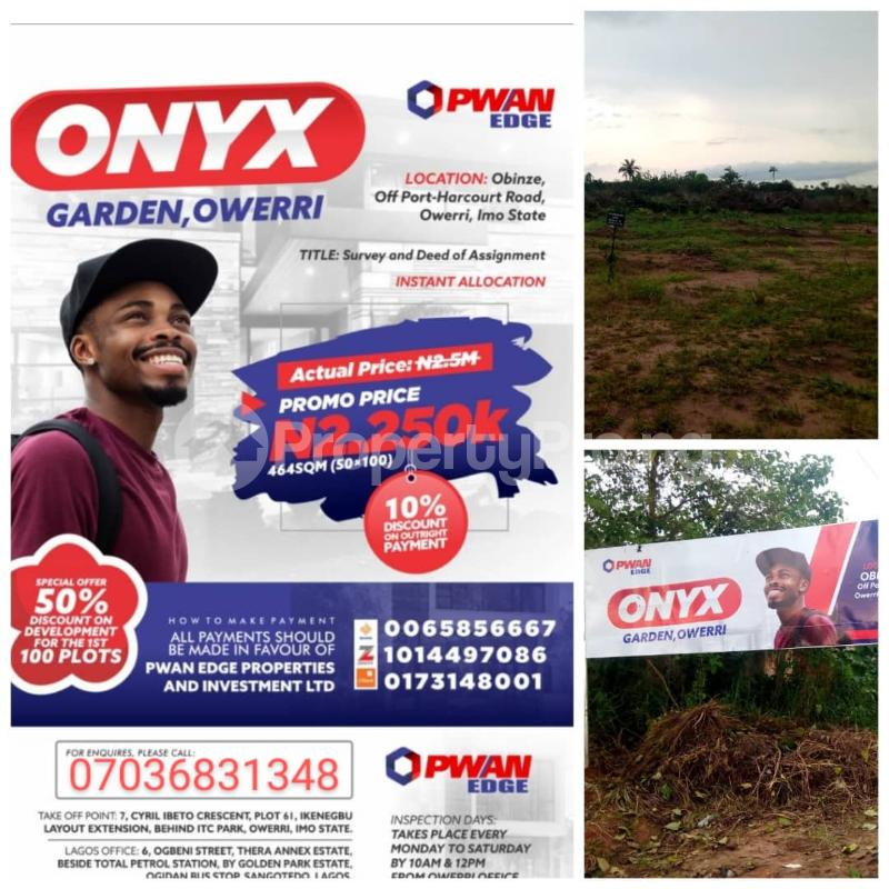 Residential Land Land for sale Obinze Close To Army Barracks Off Portharcout Road Owerri Imo - 0