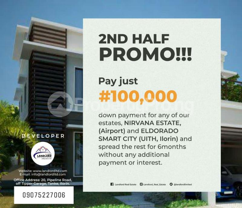 Residential Land Land for sale 5 minutesdrive-in opposite ilorin international Airport Main Gate. Ilorin Kwara - 3