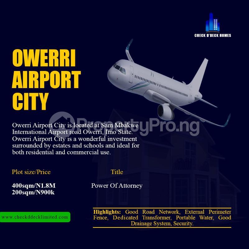 Land for sale Sam Mbakwe International Airport Road Owerri Imo - 1