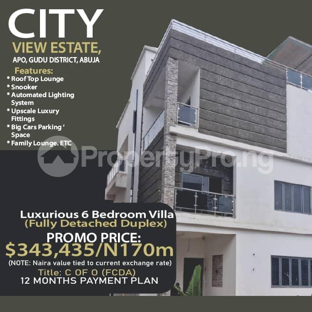 6 bedroom Detached Duplex for sale Citi View Estate, Gudu. Apo Abuja - 0