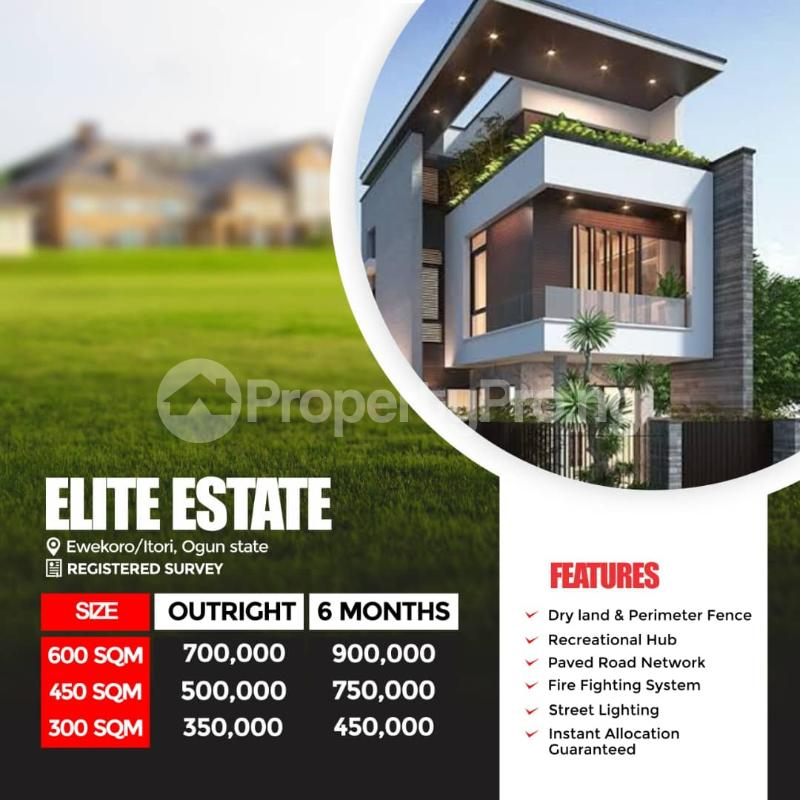 Residential Land for sale Elite Estate, Ewekoro/itori Abule Ado Ewekoro Ogun - 0