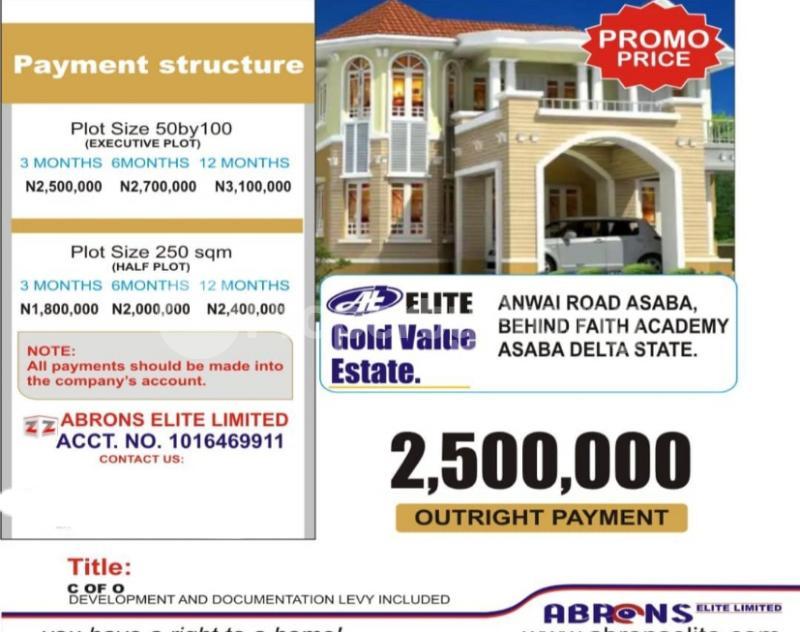 Residential Land for sale Anwai Road Asaba Asaba Delta - 0
