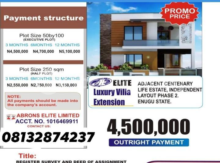 Residential Land for sale Adjacent Centinary Life Estate Independence Layout Phase 2 Enugu Enugu Enugu - 1