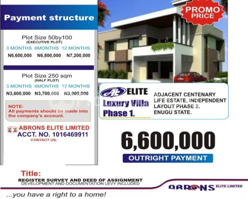 Residential Land for sale Centinary Life Estate Independence Layout Enugu Enugu - 0