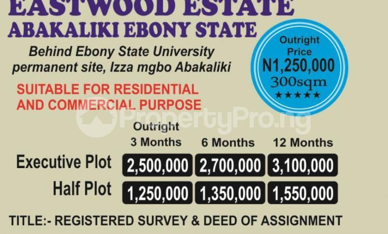 Mixed   Use Land Land for sale Behind Ebony State University Permanent Site  Abakaliki Ebonyi - 0