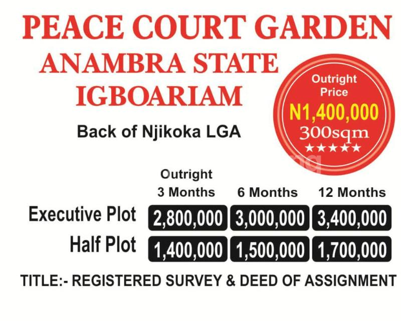 Mixed   Use Land Land for sale Back of Njikoka Local Government Igboariam Anambra State  Njikoka Anambra - 0