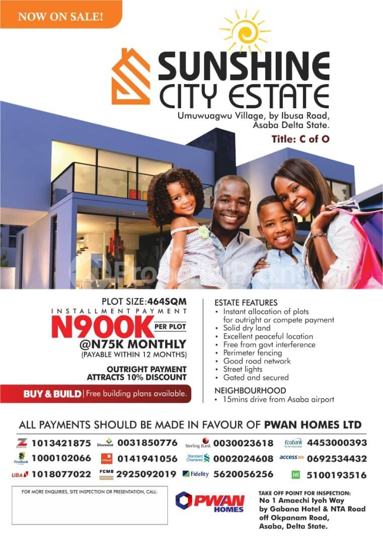 Residential Land Land for sale Near International Airport Asaba Delta State  Asaba Delta - 0
