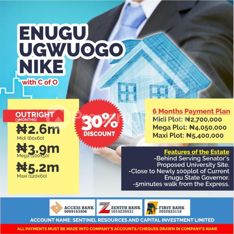 10 bedroom Serviced Residential Land Land for sale Ugwuogo Nike close to the Express  Enugu Enugu - 0