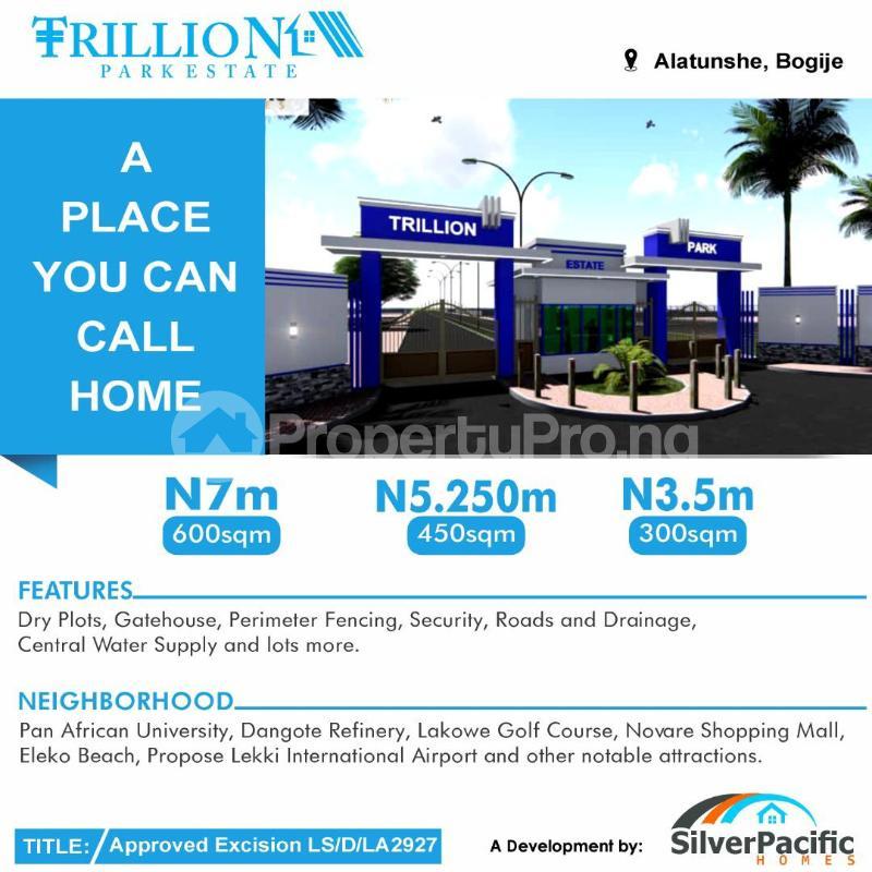 Residential Land Land for sale Trillion Park Estate Bogije Sangotedo Lagos - 1