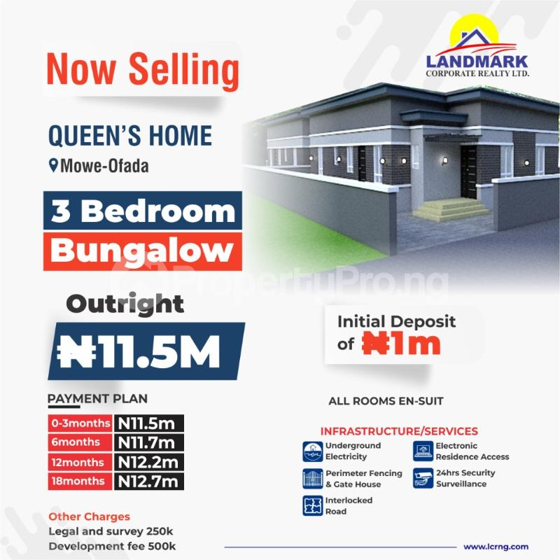 3 bedroom Semi Detached Bungalow House for sale Mowe Ofada GRA, Ogun State Mowe Obafemi Owode Ogun - 2
