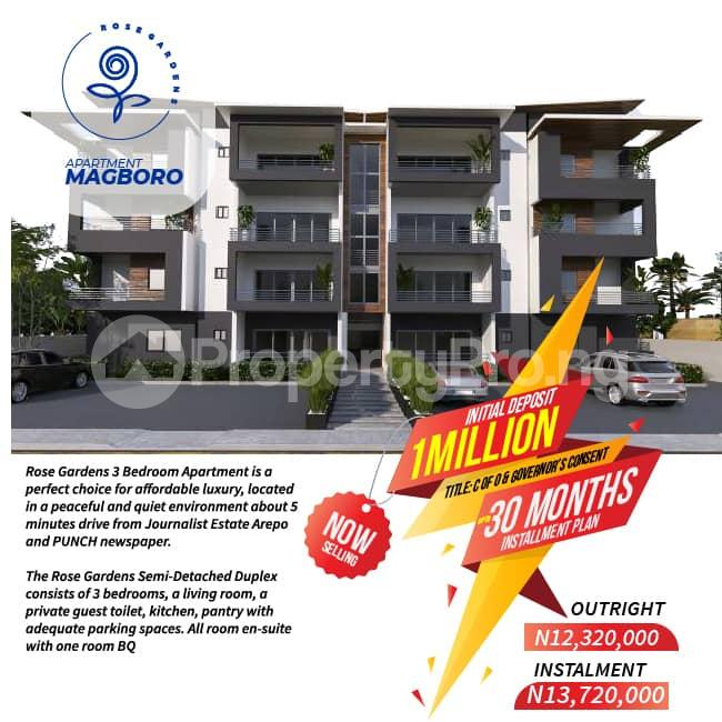 4 bedroom Semi Detached Duplex House for sale Magboro, 5 minutes drive from Journalist Estate Arepo and PUNCH newspaper and few minutes from Alausa Ikeja. Magboro Obafemi Owode Ogun - 4