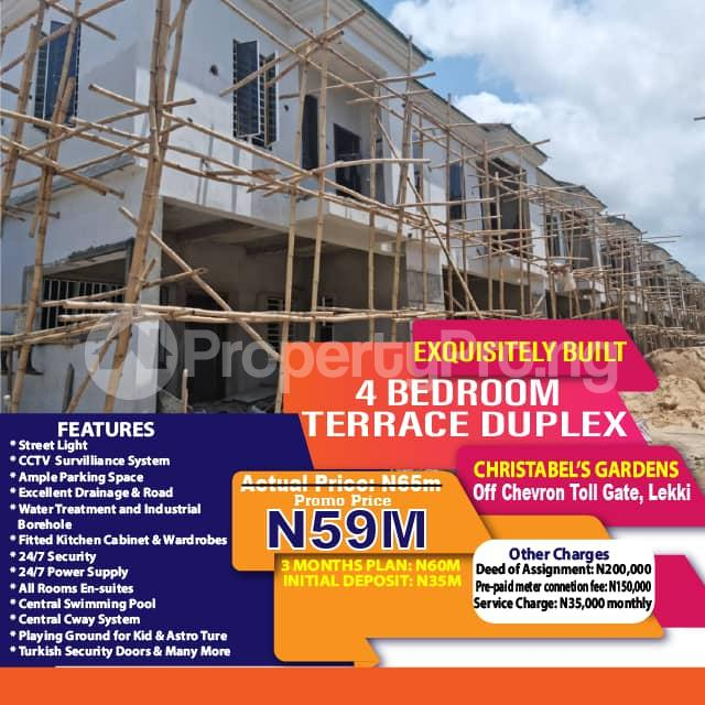 4 bedroom Terraced Duplex for sale Christabel's Gardens, Orchid Road, Close To Chevron Toll Gate Ikota Lekki Lagos - 7