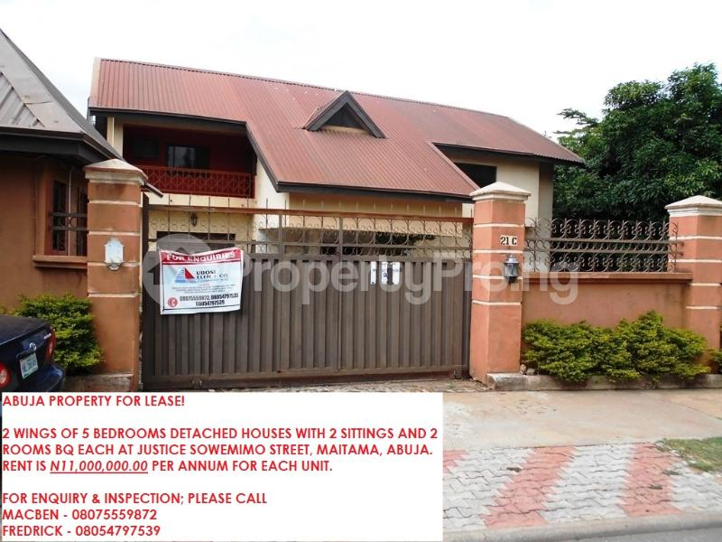 5 bedroom Boys Quarters Flat / Apartment for rent justice Sowemimo street Asokoro Abuja - 14