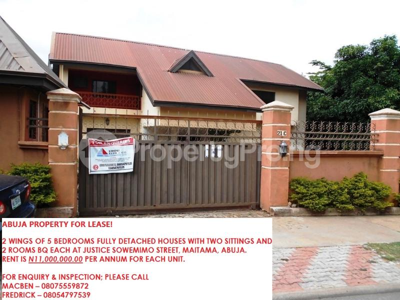 5 bedroom Boys Quarters Flat / Apartment for rent justice Sowemimo street Asokoro Abuja - 13