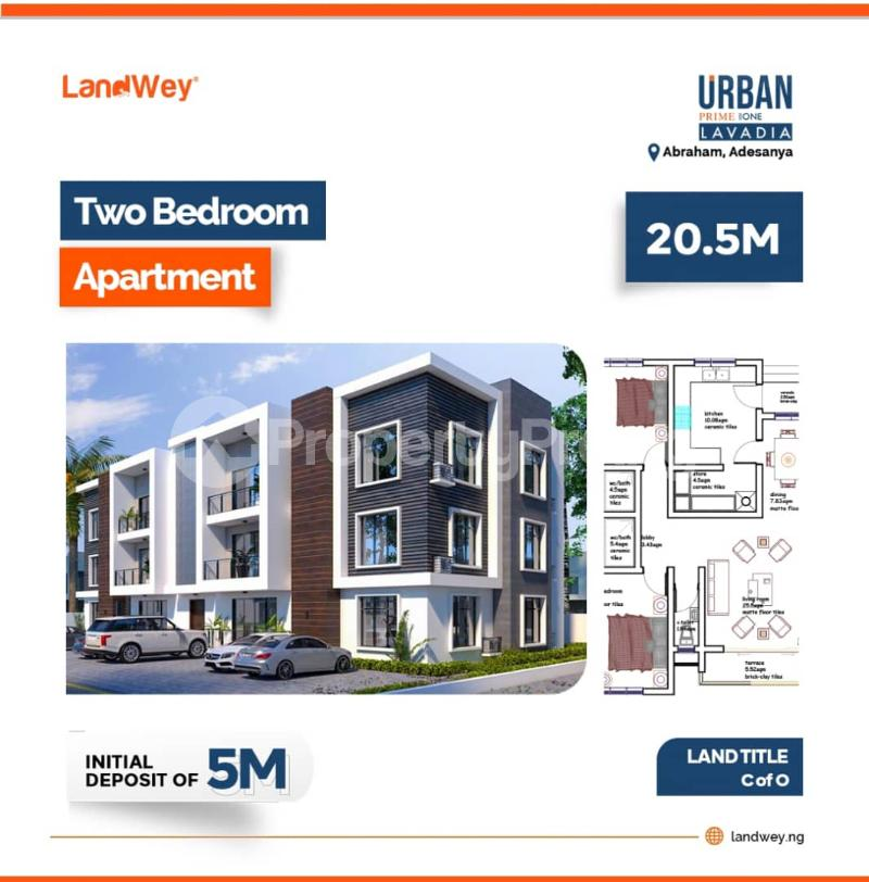 2 bedroom Blocks of Flats House for sale Ogombo Road, Off Abraham Adesanya, Ajah, Urban Lavadia Estate Lekki Phase 2 Lekki Lagos - 1