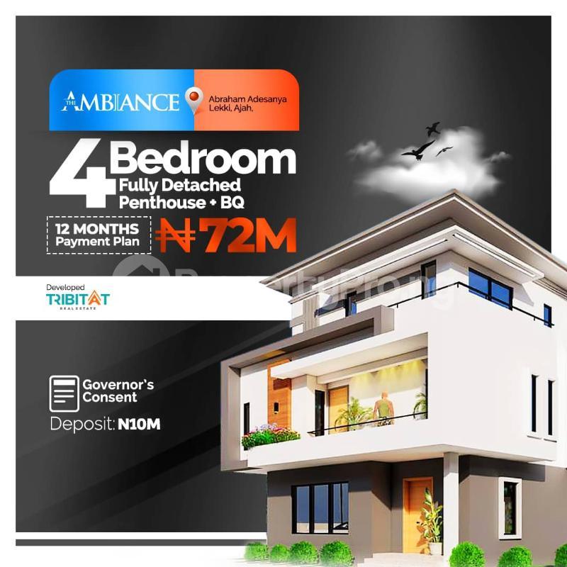 4 bedroom Detached Duplex for sale Abraham Adesanya By Atlantic Layout Estate Abraham adesanya estate Ajah Lagos - 0