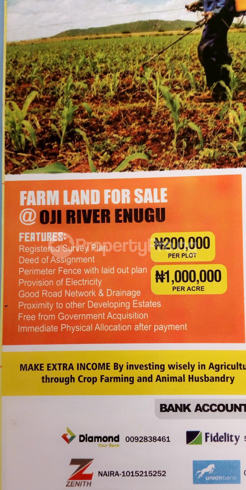 Commercial Land for sale Diamond Estate Farm Land In Oji River Enugu Oji-River Enugu - 1