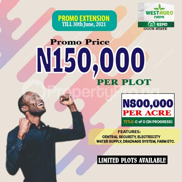 Commercial Land Land for sale Westagro Farm Land In Remo Ode Remo Remo North Ogun - 0