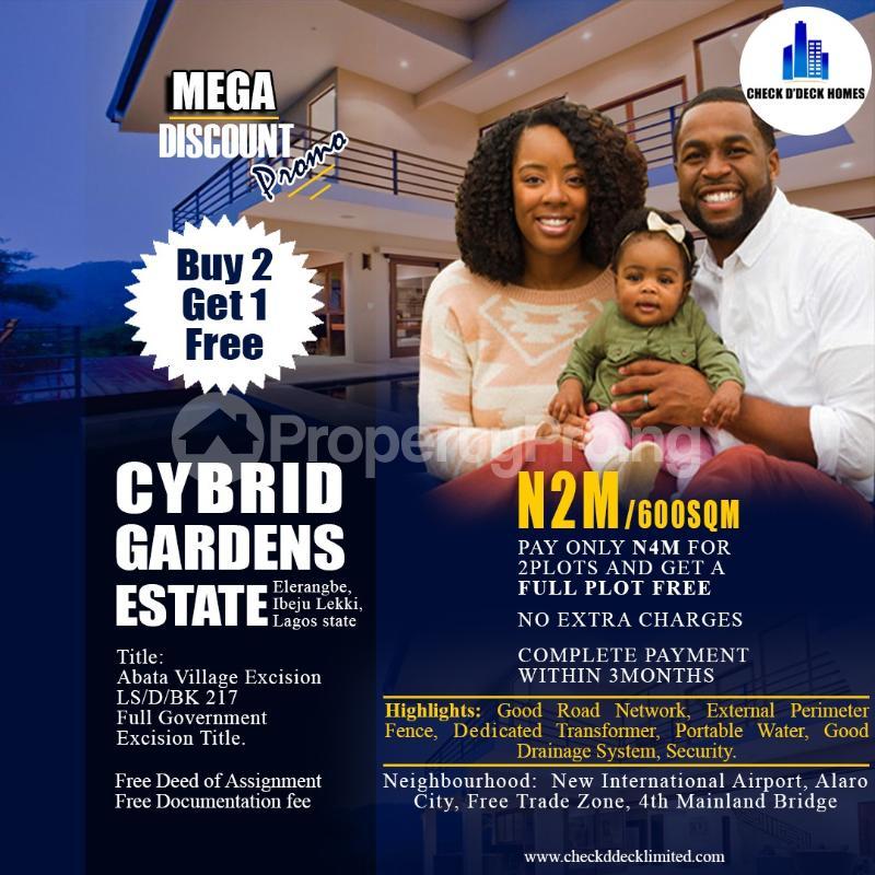 Land for sale Tagbati Town Eleranigbe Ibeju-Lekki Lagos - 0